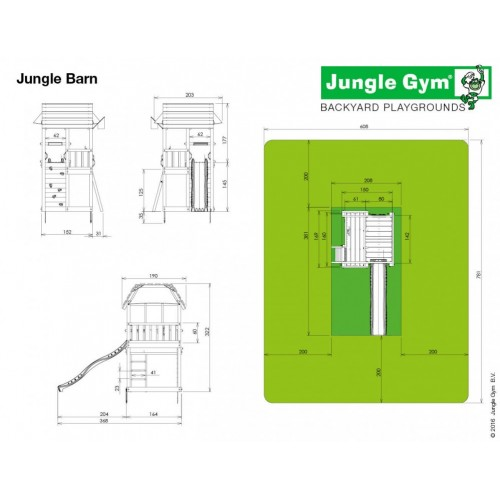 Jungle Barn - Dimenzija