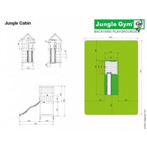 Jungle Cabin - Dimenzija