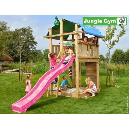Jungle Fort - Tobogan pink