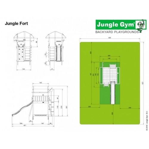 Jungle Fort - Dimenzije