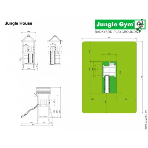 Jungle House - Dimenzije