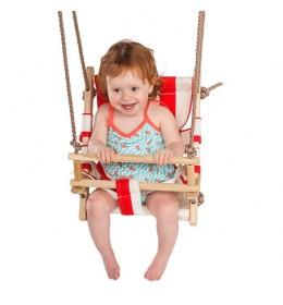 Baby ljuljaška - drvo-platno