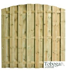 Drvena ograda Delux, 13mm, zaobljena