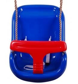 Velika bebi ljuljaška plava-crvena
